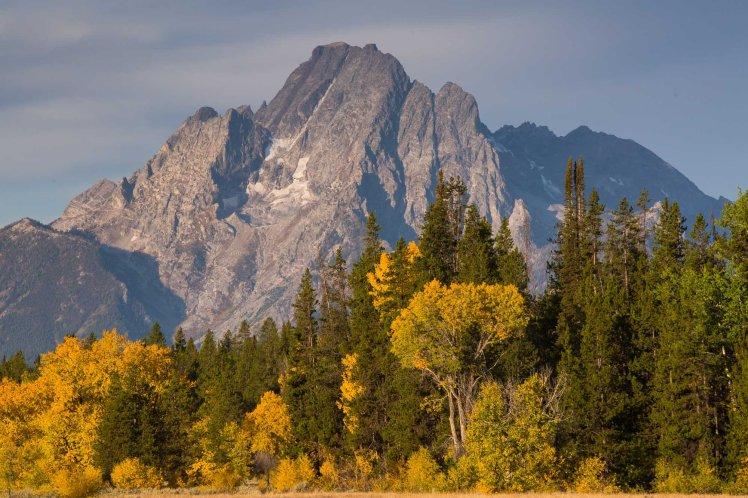 Fall colors and Tetons from Pilgrim Creek